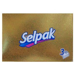 Selpak, 70 шт., Салфетки гигиенические Селпак, Мини Микс, 3-х слойные, 21.5х16 см, белые