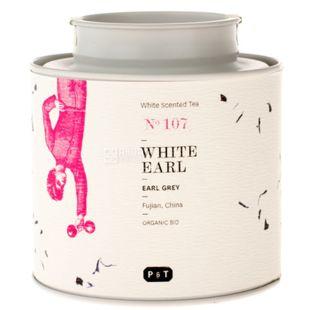P&T, White Earl, 40 г, Чай Піті, Ерл Грей, білий, органічний, ж/б