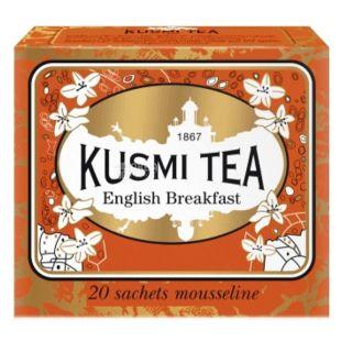 Kusmi Tea, English Breakfast, 20 пак. х 2,2 г, Чай Кусми Ти, Английский завтрак, черный