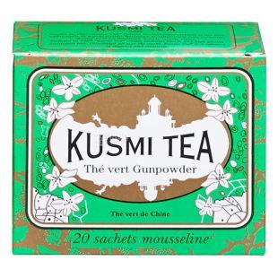 Kusmi Tea, Gunpowder, 20 пак. х 2,2 г, Чай Кусми Ти, Ганпаудер, зеленый