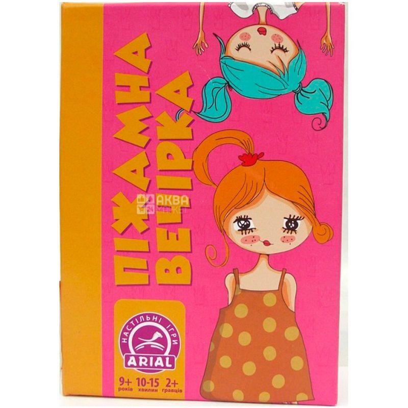 Arial, Настольная игра, Пижамная вечеринка, 93 карточки, для девочек, детям старше 9 лет