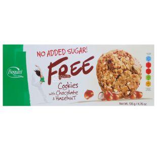 Bogutti Free, Печиво без цукру з шоколадом і горіхами, 135 г