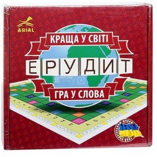 Arial, Настольная игра, Эрудит, на украинском языке, детям старше 7-ми лет