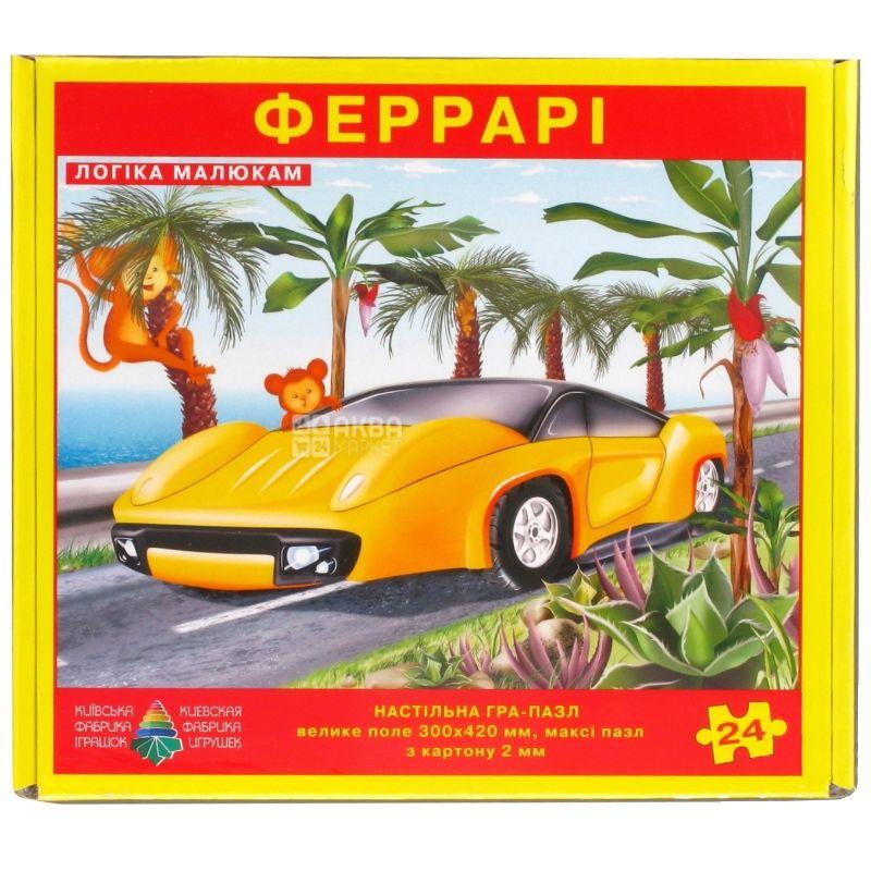 Энергия плюс, Игра-пазл настольная Феррари, картон, 300х240 мм, 24 элемента