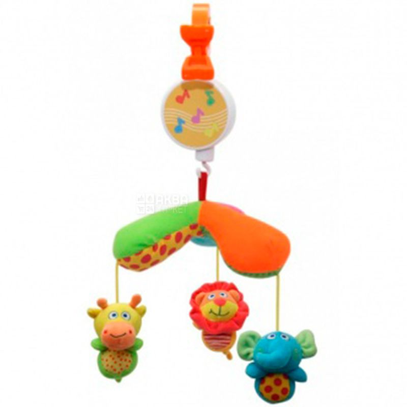Baby Team, Игрушка-подвеска Мини Мобиль, текстиль, детям с рождения