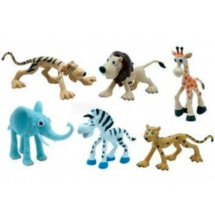Baby Team, A set of toys, animal figures Safari, plastic, for children from 3 years, 6 pcs.