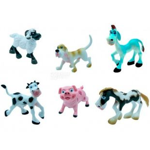 Baby Team, Набір іграшок, фігурки тварин Ферма, пластик, дітям з 3 років, 6 шт.