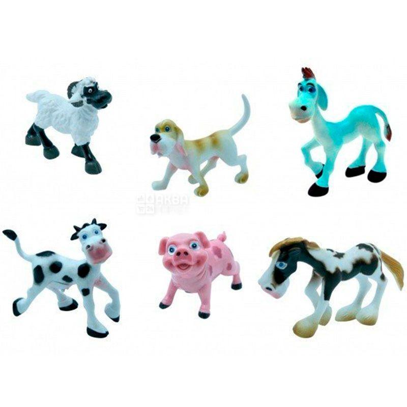 Baby Team, Набор игрушек, фигурки животных Ферма, пластик, детям с 3 лет, 6 шт.