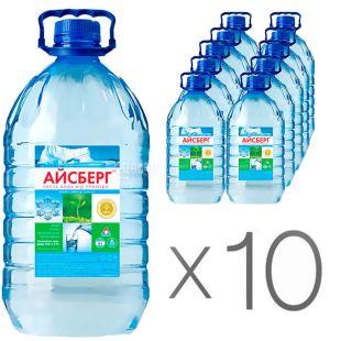 Айсберг, 6 л, Упаковка 10 шт., Вода негазированная артезианская, ПЭТ