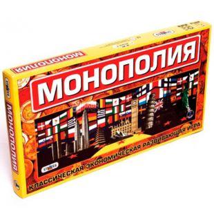 Strateg, Настольная игра Монополия, картон, для детей с 6 лет