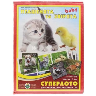 Energy Plus, Superloto Board Game, Chicks and Animals, cardboard, children from 5 years
