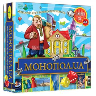 Energy Plus, Board Game Monopoly.UA, cardboard, for children from 8 years