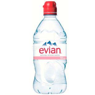 Evian, Вода негазированная спорт, 0,75 л, ПЭТ