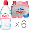 Evian, Water, non-carbonated sport, 0.75 l, Packaging 6 pcs. PET