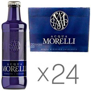 Acqua Morelli, 0,25 л, Упаковка 24 шт., Аква Морелли, Вода минеральная газированная, стекло