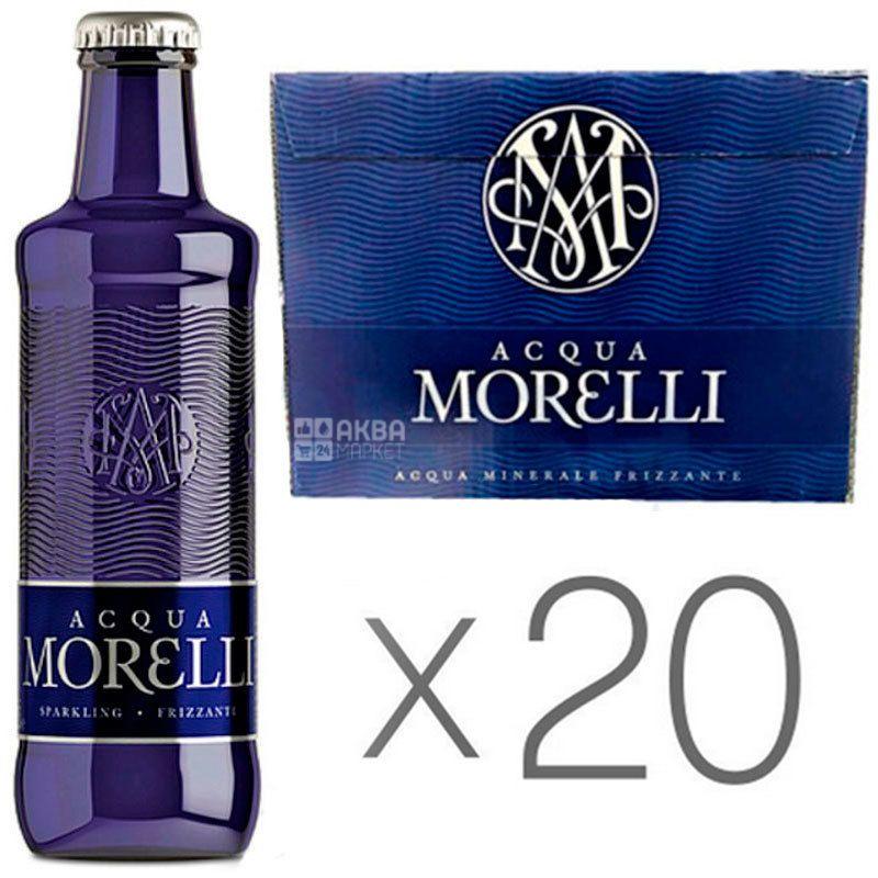 Acqua Morelli, 0,5 л, Упаковка 20 шт., Аква Морелли, Вода минеральная негазированная, стекло
