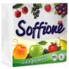 Soffione, 50 шт., Салфетки столовые Соффиони, однослойные, 24x24 см, белые
