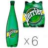 Perrier, 1 л, Упаковка 6 шт., Перье, Вода минеральная газированная, ПЭТ