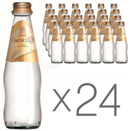 Norda, 0,25 л, Упаковка 24 шт., Норда, Вода мінеральна газована, скло