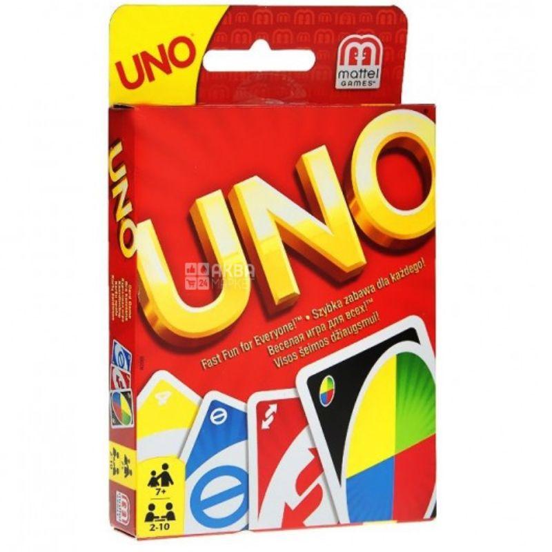 Mattel, Гра карткова Uno, картон, для дітей від 3 років