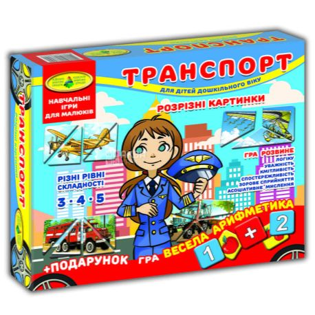 Энергия Плюс, Игра Транспорт-разрезной картинки, для детей от 3-х лет