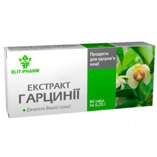 Elit Pharm, Экстракт гарцинии, диетическая добавка, 80 капсул