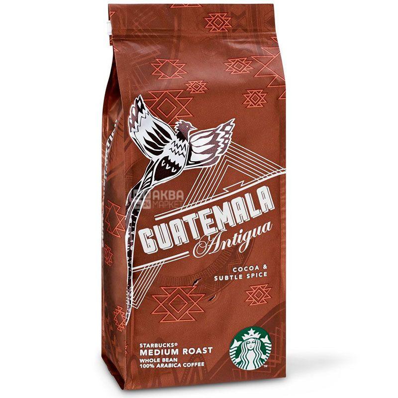 Starbucks Guatemala Antigua, 250 г, Кофе Старбакс Гватемала Антигуа, средней обжарки, в зернах