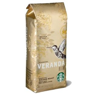 Starbucks Veranda Blend, 250 г, Кофе Старбакс Веранда Бленд, светлой обжарки, в зернах