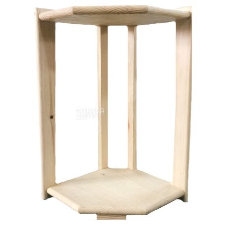 WSD-3, Підставка дерев'яна на 2 бутлі, кутова, бук