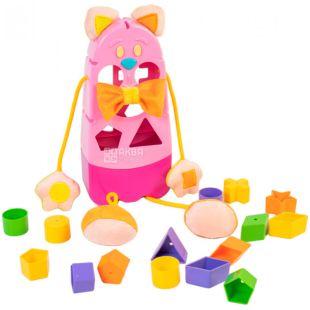 Tigres, Іграшка-сортер Котик, пластик, для дітей від 1-го року