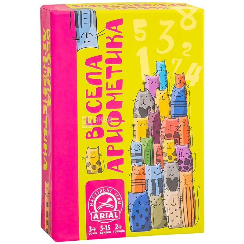Arial, Игра настольная Веселая арифметика, для детей от 3-х лет