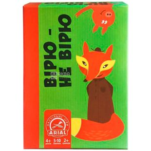 Arial, board game Believe - I do not believe in the range for children from 4 years