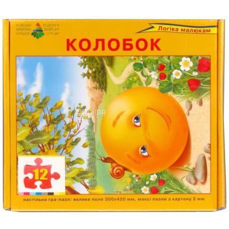 Енергія плюс, Дитяча настільна гра, Пазл, Колобок, для дітей від 3-х років