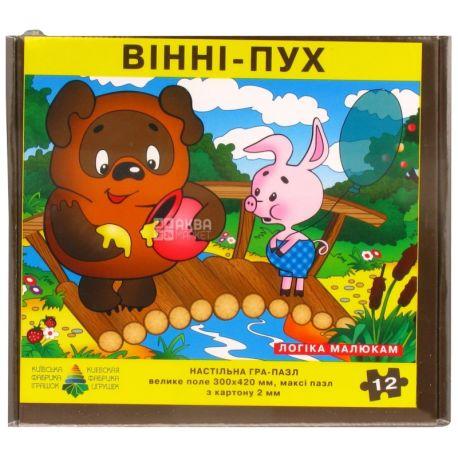 Енергія плюс, Дитяча настільна гра, Пазл, Вінні-Пух, для дітей від 3-х років