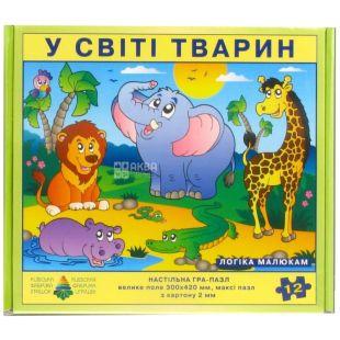 Энергия плюс, Детская настольная игра, Пазл, В мире животных, для детей от 3-х лет