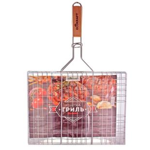 EcoKraft, Grill grate, large, stainless steel, 30x40 cm