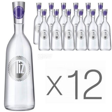 LIZ, 0,75 л, Упаковка 12 шт., Ліз, Вода мінеральна газована, скло