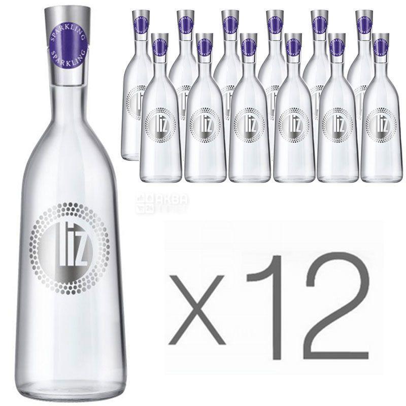 LIZ, 0,75 л, Упаковка 12 шт., Лиз, Вода минеральная газированная, стекло