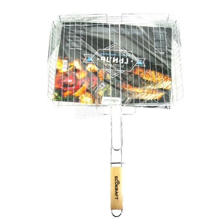 EcoKraft, Решетка-гриль, металл, 40х32х7,5 см