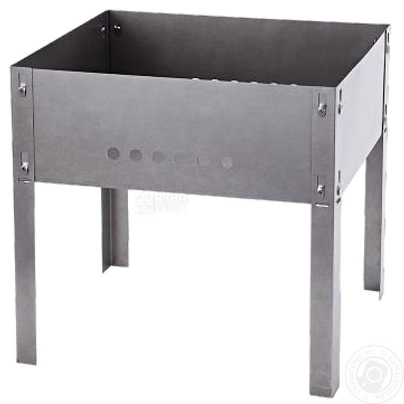 Мангал разборной походный, металл, 35х25 см