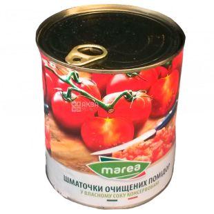 Marea, Помидоры кусочками очищенные в собственном соку, 400 г