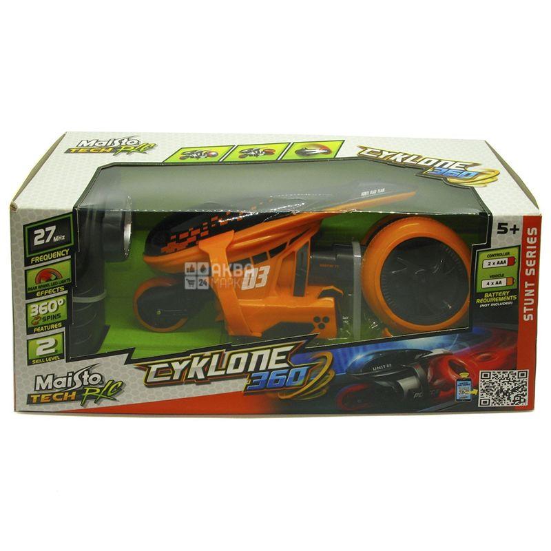 Maisto Мотоцикл на радиоуправлении Cyclone 360, пластмасса, для детей от 5 лет