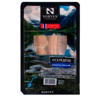 Norven, Оселедець, філе в олії з блакитною сіллю, 250 г
