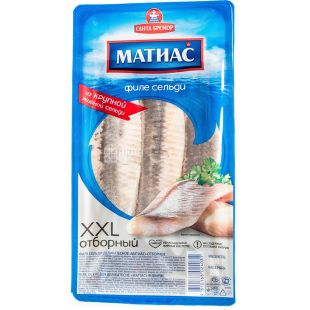 Santa Bremor, Herring fillet in oil Matias XXL Selective, slightly salted, 300 g