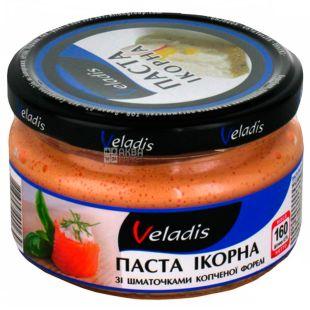 Veladis, Паста икорная с кусочками копченой форели, 160 г