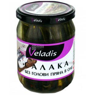 Veladis, Салака без головы пряная в масле, 460 г