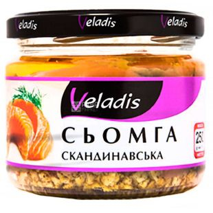 Veladis, Сьомга скандинавська в олії, 250 г