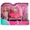 Simba, Кукольный набор, Эви с малышом в кроватке, для детей от 3-х лет