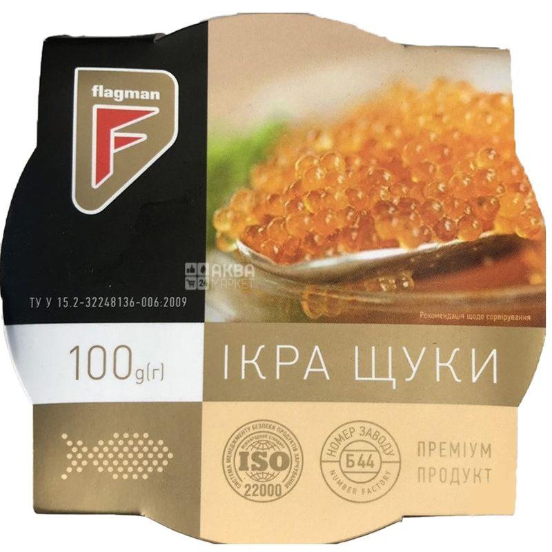 Flagman, Икра щуки слабосоленая, 100 г