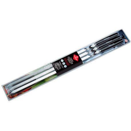 Forester, Набор шампуров, большие, деревянная ручка, 6 шт., 55 см